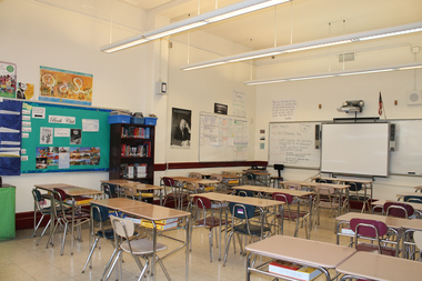 A classroom at the Frederick Douglass Academy II  in Morningside Heights.