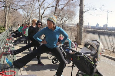 Fit4Mom is an intense cardio and strength workout that moms can do with thier little ones.