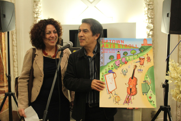 Cartoonist Felipe Galindo's poster was chosen on Monday, March 10, 2013 to represent the NoMAA Art Stroll.