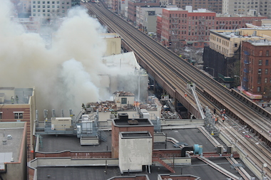New York State is giving $425,000 to small businesses affected by the  East Harlem Explosion , Governor Andrew Cuomo announced Wednesday.  The money will be distributed as individual loans of up to $20,000 to eligible businesses in order to aid their ongoing recovery from March's explosion, which  killed eight people and displaced dozens  .