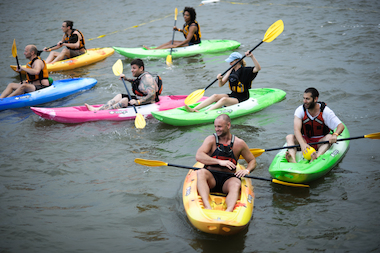Kayabi — a kind of kayak-dodgeball — is one of the events that will be hosted for members of Friends of Hudson River Park.