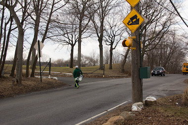 The Department of Transportation will add a pedestrian signal to make it easier for golfers to cross Richmond Hill Road while playing at LaTourette club.