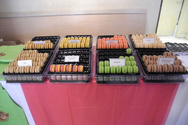 The Francios Payard Bakery put out a table full of free macarons Thursday as part of the annual Macaron Day NYC