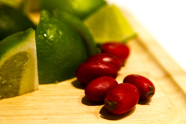 """Miracle berries"" are known to mask the sour taste of lemons and limes."