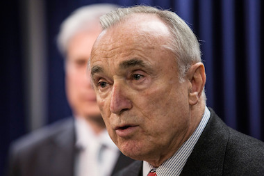 NYPD Commissioner Bill Bratton said there was no concern over the department's change to its stop-and-frisk policy during a press conference on May 27, 2014, despite a nearly 10 percent rise in shooting incidents so far this year, compared to the same period last year.