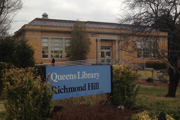 The Richmond Hill Library serves the neighborhoods of Richmond Hill and Kew Gardens.