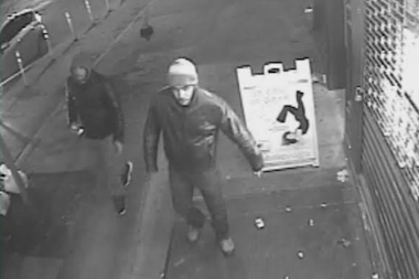 Police released photos of two suspects accused of slashing and robbing a pair of men in Hell's Kitchen March 10, 2014.