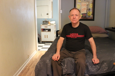 Stephen Redford, 53, says rent on his apartment on West 26th Street eats up 85 percent of his monthly income.