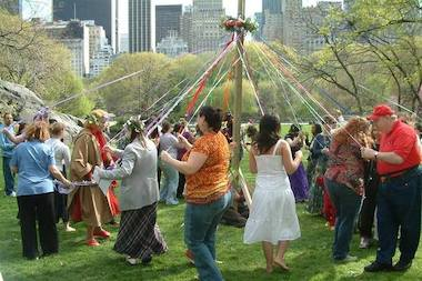 The Wiccan Family Temple holds events all across the city, like this celebration in Central Park in 2007.