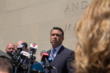 A onetime girlfriend of Rep. Michael Grimm, Diana Durand, pleaded not guilty to violating campaign finance fraud by using straw donors to funnel money into Grimm's 2010 campaign.