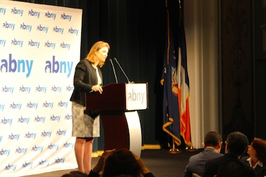 Deputy Mayor Alicia Glen address the Association for a Better New York on April 2, 2014 regarding the de Blasio administration's tech policy.