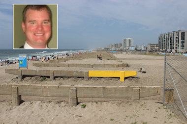 A lead official on the project to rebuild the boardwalk in Rockaway, seen above last summer, is stepping down from the EDC.
