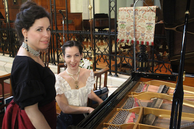Washington Heights Musical Society organizers Christina Arethas and Alexandra Snyder Dunbar will be decked out in early 1900s outfits for their May 4 performance at Holyrood Church.