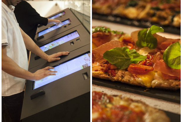Pizza Vinoteca combines three main components: pizza, wine and technology.