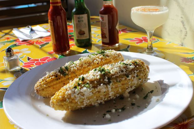 "Pequena at 601 Vanderbilt Avenue in Prospect Heights offers a recipe for grilled Mexican corn and a ""smoky"" margarita for Cinco de Mayo."