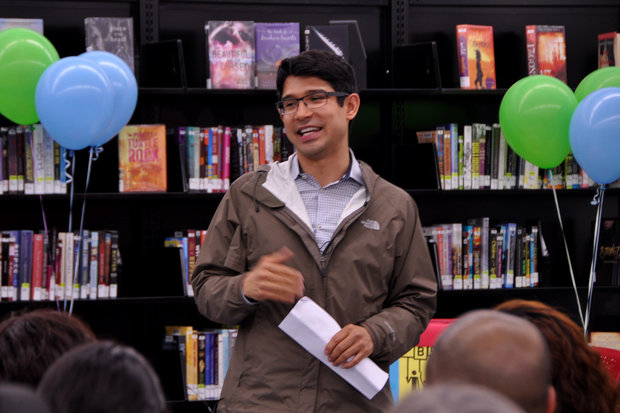 Councilman Carlos Menchaca announced the winning projects of District 38's participatory budgeting program at Red Hook Library on April 15.