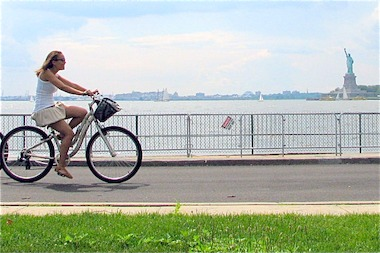 A program offering free biking every weekday morning is coming to Governors Island this season.