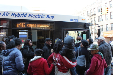Some Bed-Stuy residents oppose the MTA and DOT's proposal to make street and sidewalk changes as part of the B46 Select Bus Service in the area.
