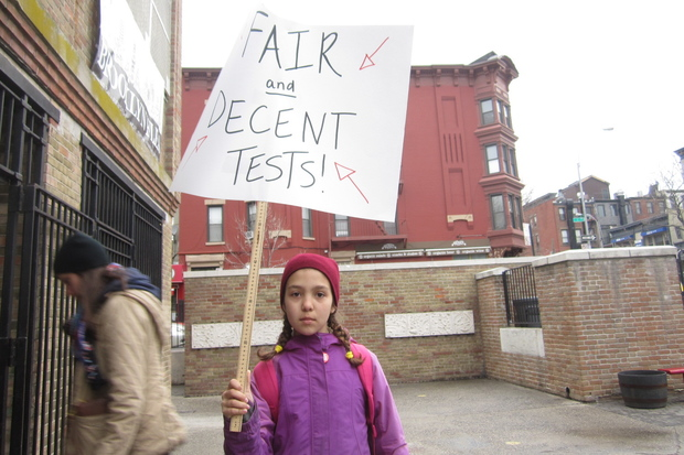 "P.S. 321 teachers want testing giant Pearson to make the ""terrible"" English exam public."