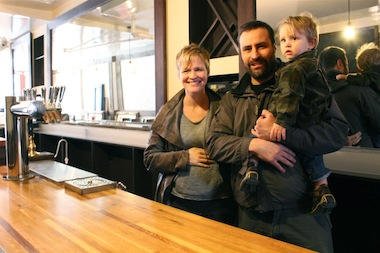 """We build bars that are comfortable without being intimidating,"" said Laura Kynaston, who lives in the East Village with her husband Martin, four children and another child on the way."
