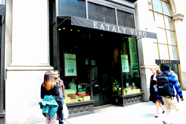 Eataly Vino is offering 25 percent off all wines until Sunday, and will close thereafter until October.