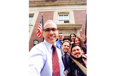 Borough President James Oddo launched a campaign to get Staten Islanders to take photos around their favorite local spots, with the tag #siselfie, to boost local pride. Oddo kicked it off with a selfie with staff on the steps of Borough Hall.