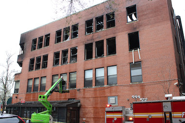 The five-alarm fire broke out on April 21 and was electrical, the fire department said.