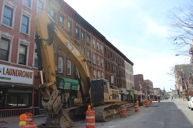 Construction on Nostrand Avenue in Bed-Stuy is expected to be finished in June, the city said.