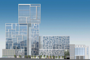 A rendering of the proposed TF Cornerstone building on West 57th Street.