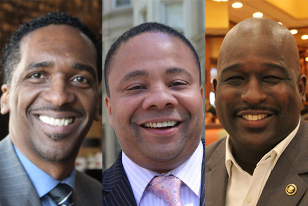Rubain Dorancy, Jesse Hamilton and Demetrius Lawrence are each hoping to fill Eric Adams' former state Senate seat.