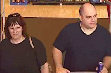 Police are looking for these two people, they said used a stolen debit card to make purchases at a Staten Island CVS and Target on May 17, 2014.