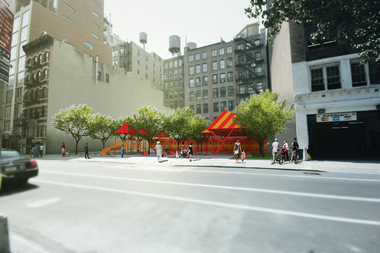 A rendering of a possible design for the 20th Street Park.