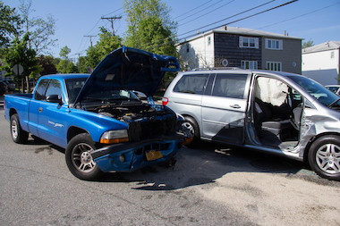 Eleven people, including an infant, were injured in a three-car accident in Meiers Corners on Tuesday, May 20, 2014.