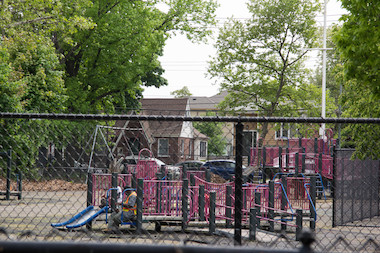 The Midland Playground, adjacent to P.S. 38, has remained closed for two summers after it was damaged in Hurricane Sandy.