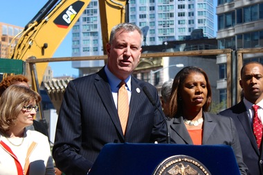 Mayor Bill de Blasio announced his affordable housing plan on May 5, 2014 to create or preserve 200,000 units of afforable housing.