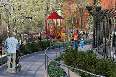The Port Authority now hopes to complete renovations to Dolphin Park by spring 2015.