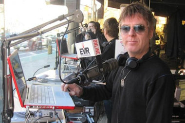 The Smiths' Andy Rourke during his broadcast for East Village Radio in 2011.