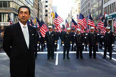 Former FDNY Chief Daniel Nigro at the Columbus Day Parade in 2002.