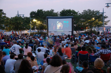 Hudson River Park is one of several places to catch free films in Lower Manhattan this summer.