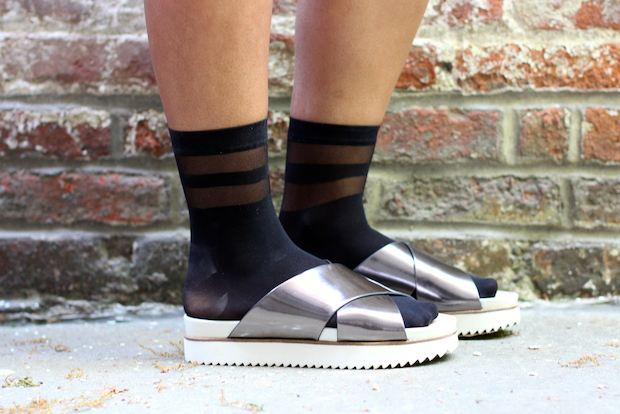 Pairing socks with opened-toed shoes has become an unlikely spring fashion trend.