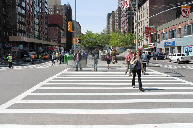 NYPD crash data showed that pedestrians were most vulnerable in the West 90s.