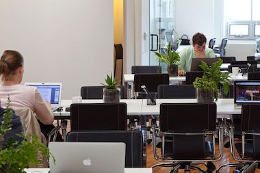 A growing number of shared work spaces offer an escape from the crowded neighborhood coffee shop.