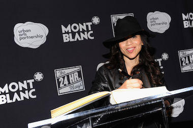Rosie Perez attends Montblanc Presents The 13th Annual 24 Hour Plays On Broadway After Party at B.B. King Blues Club & Grill on November 18, 2013 in New York City. Perez will sign her memoir at Restoration Plaza on May 9, 2014.