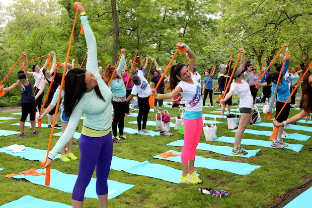 Work it out in Central Park or head to Randall's Island for the Frieze art show this weekend.