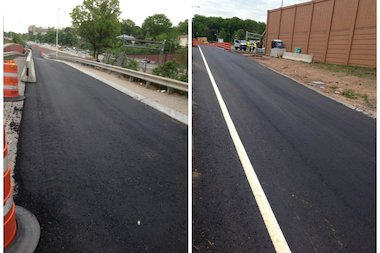 The state DOT repaved the Bradley Avenue (left) and Victory Boulevard (right) entrance and exit ramps of the Staten Island Expressway months ahead of schedule after the harsh winter tore up the roadways, Councilman Steven Matteo announced.