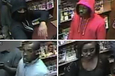 Police are looking for these four suspects who they say attacked some Harlem bodega workers following a dispute over a cigar.