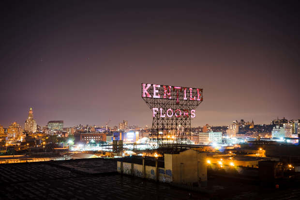 The Kentile Floors sign on Ninth Street between Second Avenue and the Gowanus Canal will be illuminated one more time after news broke of its imminent removal.