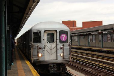The 7 train in Queens.