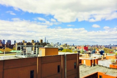 A view from a Williamsburg apartment building.