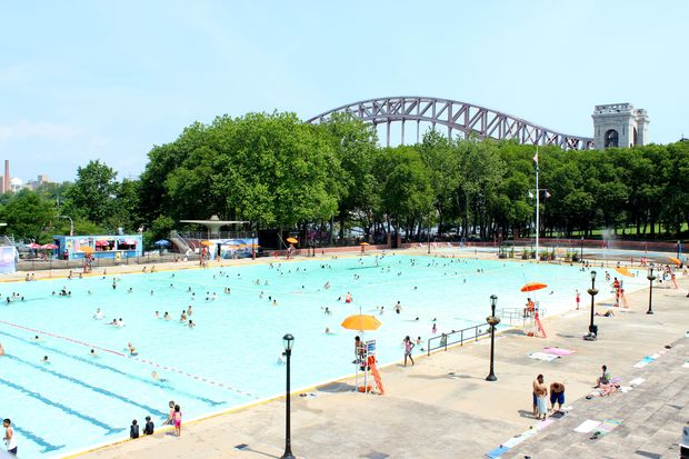 Astoria park pool reopens for the summer astoria for Garden school pool jackson heights